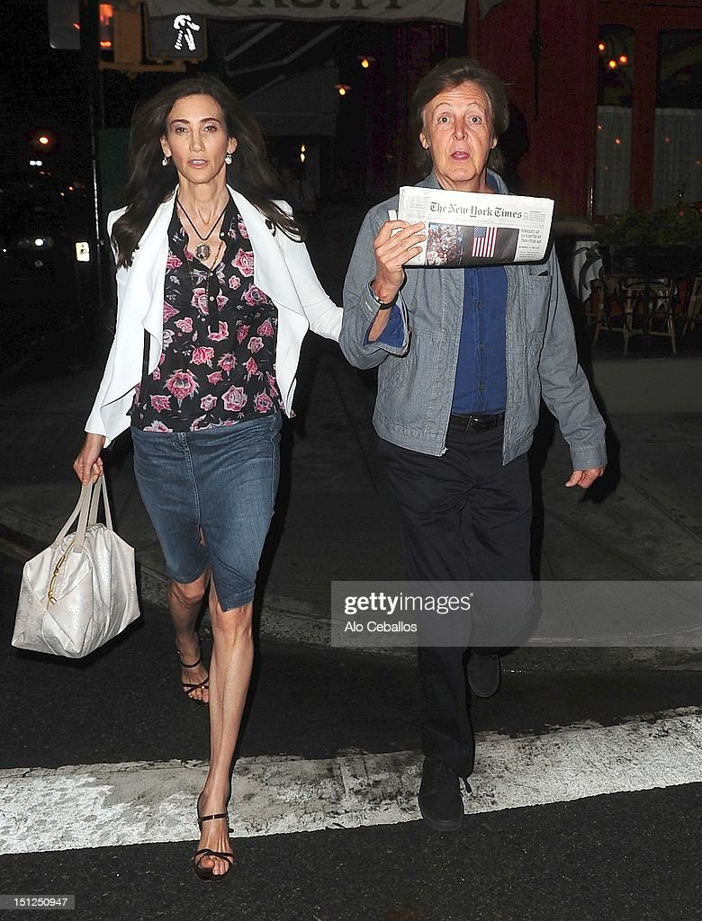 Celebrity Sightings In New York City - September 4, 2012