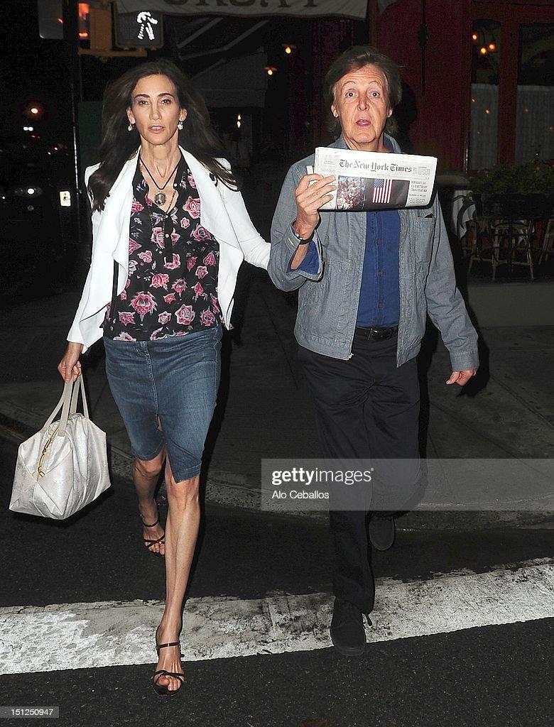 Celebrity Sightings In New York City - September 4, 2012