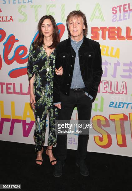 Nancy Shevell and Paul McCartney attend Stella McCartney's Autumn 2018 Collection Launch on January 16 2018 in Los Angeles California