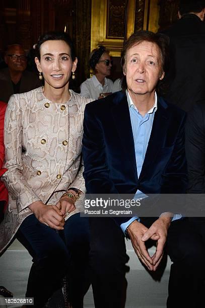 Nancy Shevell and Paul McCartney attend the Stella McCartney show as part of the Paris Fashion Week Womenswear Spring/Summer 2014 at Palais Garnier...