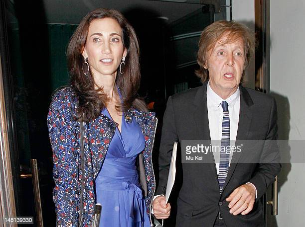 Nancy Shevell and Paul Mccartney sighting on May 23 2012 in London England