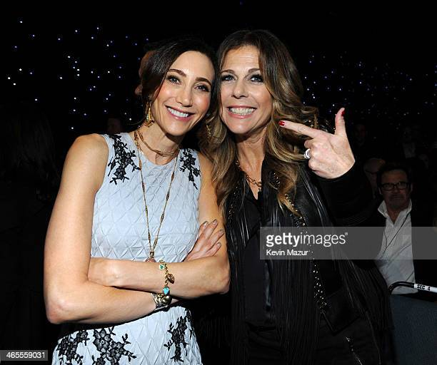 Nancy Shevell and Rita Wilson attend The Night That Changed America A GRAMMY Salute To The Beatles at Los Angeles Convention Center on January 27...