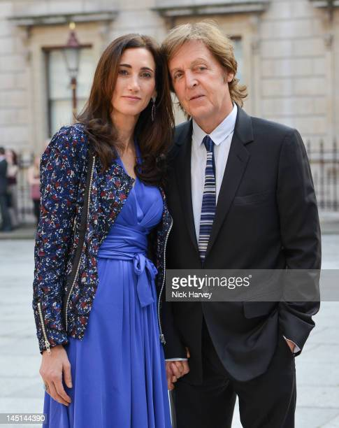 Nancy Shevell and Sir Paul McCartney attend A Celebration of the Arts at Royal Academy of Arts on May 23 2012 in London England