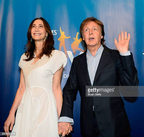 Nancy Shevell and Sir Paul McCartney attend the 10th anniversary celebration of The Beatles LOVE by Cirque du Soleil at the Mirage Hotel Casino on...