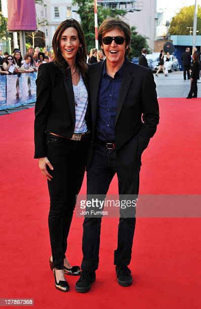 """Nancy Shevell and Sir Paul McCartney attend the """"George Harrison: Living In The Material World"""" UK premiere at BFI Southbank on October 2, 2011 in..."""