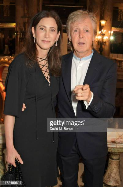 Nancy Shevell and Sir Paul McCartney attend the Stella McCartney Womenswear Spring/Summer 2020 show as part of Paris Fashion Week on September 30...