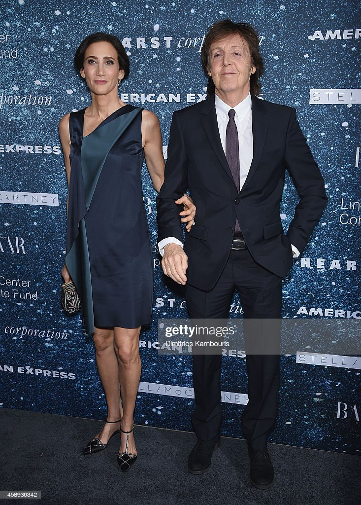 Nancy Shevell and Sir Paul McCartney attend2014 Women's Leadership Award Honoring Stella McCartney at Alice Tully Hall at Lincoln Center on November 13, 2014 in New York City.