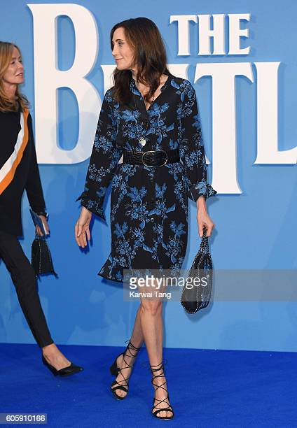 Nancy Shevell arrives for the World premiere of 'The Beatles Eight Days A Week The Touring Years' at Odeon Leicester Square on September 15 2016 in...