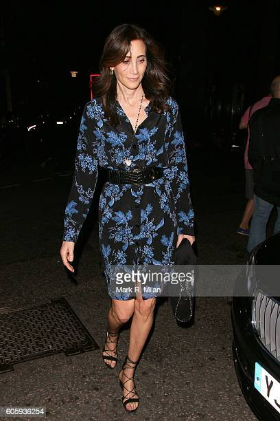 Nancy Shevell attending The Beatles Eight Days A Week premiere after party on September 15 2016 in London England
