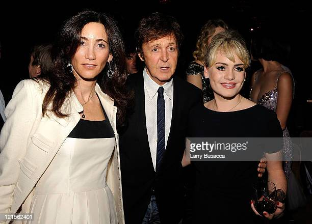 Nancy Shevell musician Paul McCartney and singer Duffy attend the 2009 GRAMMY Salute To Industry Icons honoring Clive Davis at the Beverly Hilton...