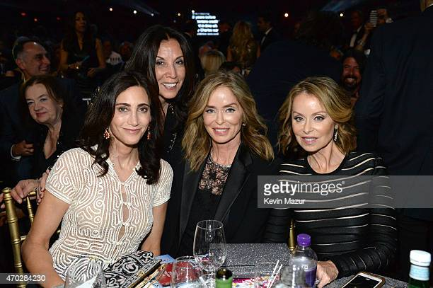 Nancy Shevell, Olivia Harrison, Barbara Bach and Marjorie Bach attend the 30th Annual Rock And Roll Hall Of Fame Induction Ceremony at Public Hall on...