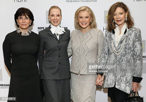 Nancy Silverman Stephanie Krieger Founder and Chairman of the Hope for Depression Research Foundation Audrey Gruss and Margo Langenberg attend the...