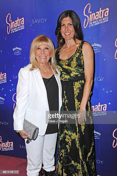 """Nancy Sinatra and daughter Amanda attend the press night of """"Sinatra At The London Palladium"""" at London Palladium on July 20, 2015 in London, England."""