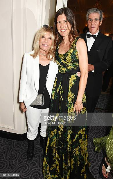 Nancy Sinatra and daughter Amanda Lambert attend an after party following the press night performance of 'Sinatra At The London Palladium' at The...