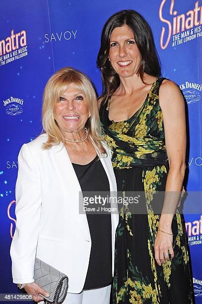 "Nancy Sinatra and daughter Amanda Lambert attend the press night of ""Sinatra At The London Palladium"" at London Palladium on July 20, 2015 in London,..."