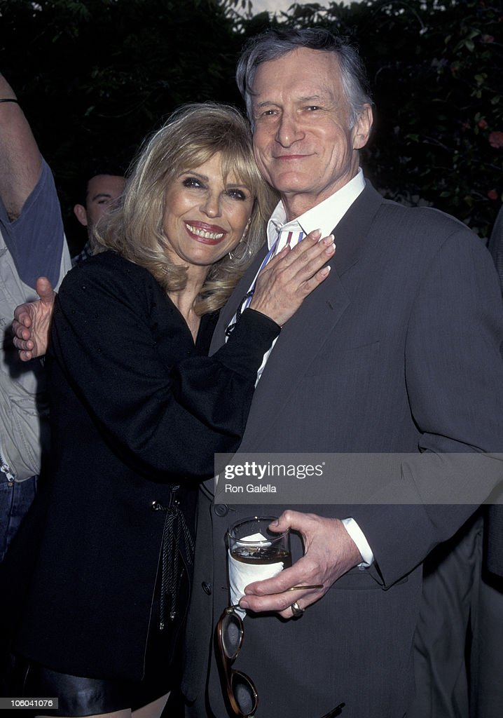 Nancy Sinatra and Hugh Hefner during Playboy Magazine Party for Nancy Sinatra Jr. at Playboy Manshion in Hollywood Hills, California, United States.