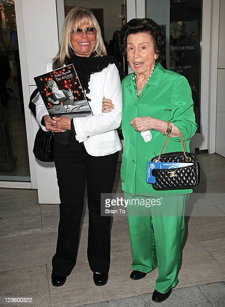 Nancy Sinatra and mother Nancy Sinatra Sr attend Paley Center TCM present Debbie Reynolds' Hollywood memorabilia exhibit reception at The Paley...