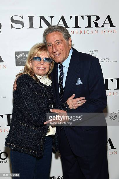 Nancy Sinatra and Tony Bennett attend Jack Daniel's Sinatra Select celebration of the Grammy Museum's Sinatra An American Icon at The New York Public...