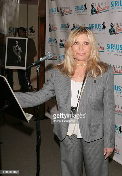 Nancy Sinatra at the Sirius Radio Press Conference announcing the launch of the Siriusly Sinatra channel on Sirius Satellite Radio on Wednesday...