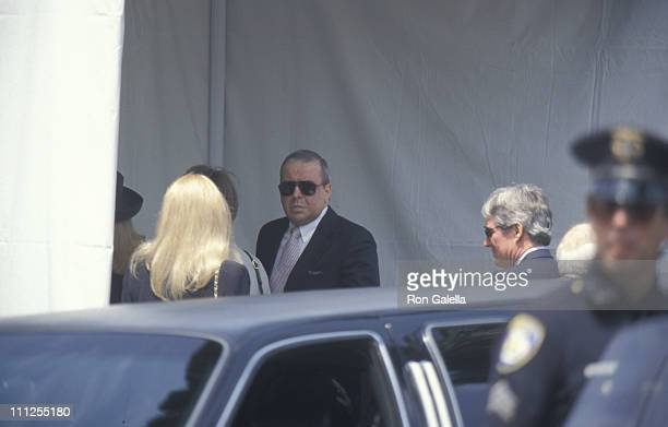 Nancy Sinatra Frank Sinatra Jr and guests during Funeral of Frank Sinatra at Little Shepherd Catholic Church in Beverly Hills California United States