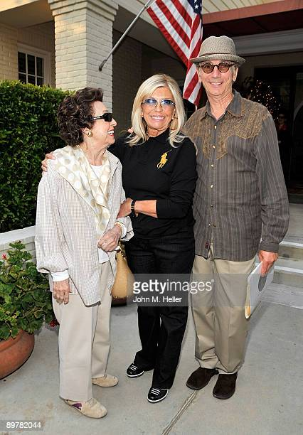 Nancy Sinatra Sr actor/singer Nancy Sinatra and actor Joe D'Angerio attend the Membership First Fundraiser at the home of Nancy Sinatra on August 13...