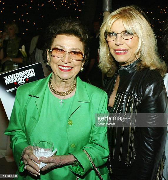 Nancy Sinatra Sr and singer Nancy Sinatra pose at the afterparty for the premiere of Paramounts' The Manchurian Candidate at the Samual Goldwyn...