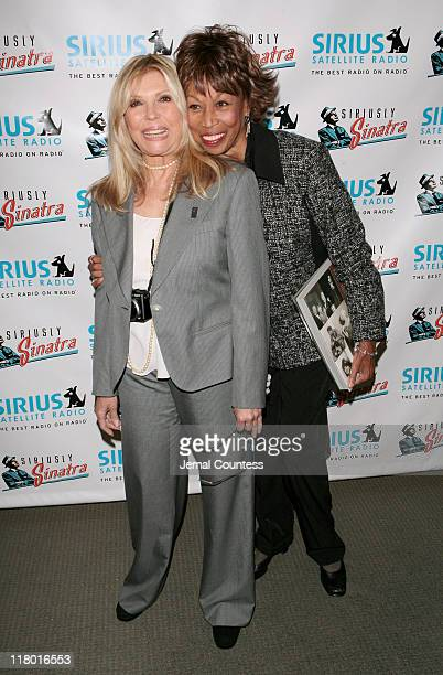 Nancy Sinatra with Altovise Davis widow of Sammy Davis Jr at the Sirius Radio Press Conference announcing the launch of the Siriusly Sinatra channel...