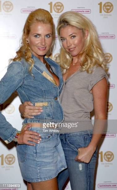Nancy Sorell and Tamara Beckwith during From High Street to Haute Couture Jeans for Genes Fashion Show at InterContinental Hotel in London Great...