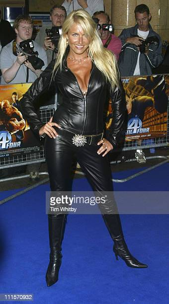 Nancy Sorell during Fantastic Four London Premiere at Leicester Square in London Great Britain
