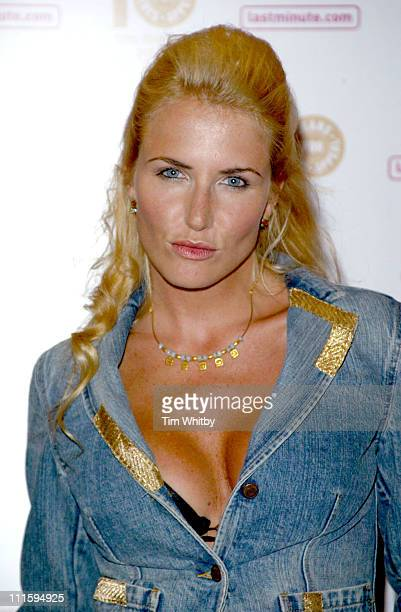 Nancy Sorell during From High Street to Haute Couture Jeans for Genes Fashion Show at InterContinental Hotel in London Great Britain