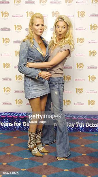 Nancy Sorrell and Tamara Beckwith during From High Street to Haute Couture Jeans for Genes Fashion Show Arrivals at InterContinental Hotel in London...
