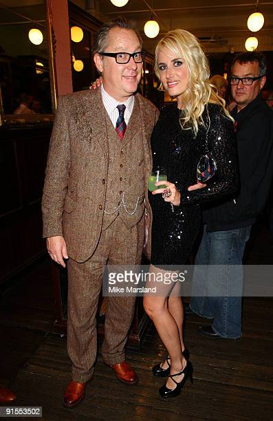 Nancy Sorrell and Vic Reeves attend the launch of Vic Reeves 'Vast Book Of World Knowledge' on October 7 2009 in London England