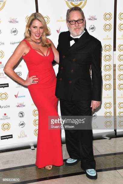 Nancy Sorrell and Vic Reeves attend the National Film Awards UK at Porchester Hall on March 28 2018 in London England
