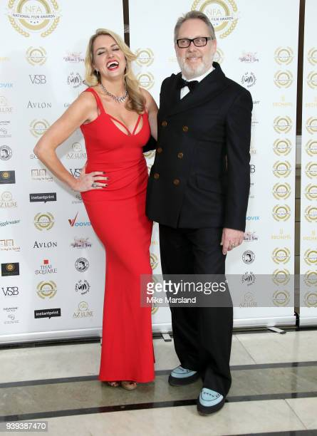 Nancy Sorrell and Vic Reeves attend the National Film Awards UK at Portchester House on March 28 2018 in London England