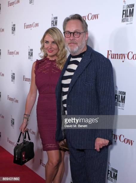 Nancy Sorrell and Vic Reeves attend the World Premiere of Funny Cow during the 61st BFI London Film Festival on October 9 2017 in London England