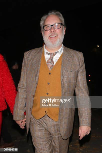 Nancy Sorrell and Vic Reeves attending Phil Turners 50th Birthday at Proud Embankment on November 14 2018 in London England