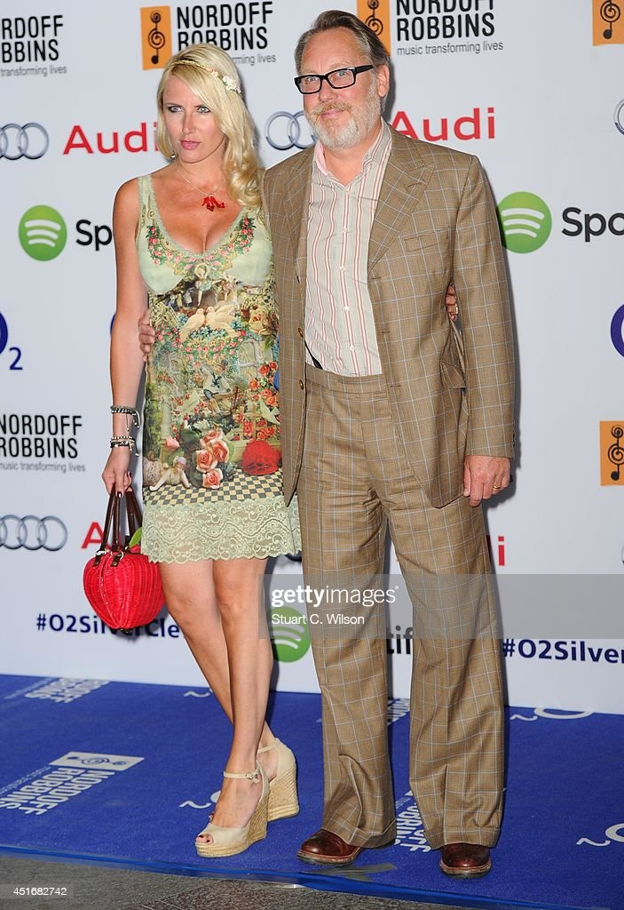 Nancy Sorrell and Vic Reeves attends the Nordoff Robbins 02 Silver Clef awards at London Hilton on July 4, 2014 in London, England.