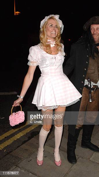 Nancy Sorrell and Vic Reeves during Matt Lucas Kevin McGee Civil Partnership Reception in London Great Britain