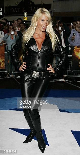 Nancy Sorrell Attends The 'Fantastic Four' Uk Film Premiere In London'S Leicester Square