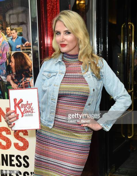 Nancy Sorrell attends the 'Kinky Boots' Gala Night hosted by Cyndi Lauper in support of Heads Together at Adelphi Theatre on May 29 2018 in London...