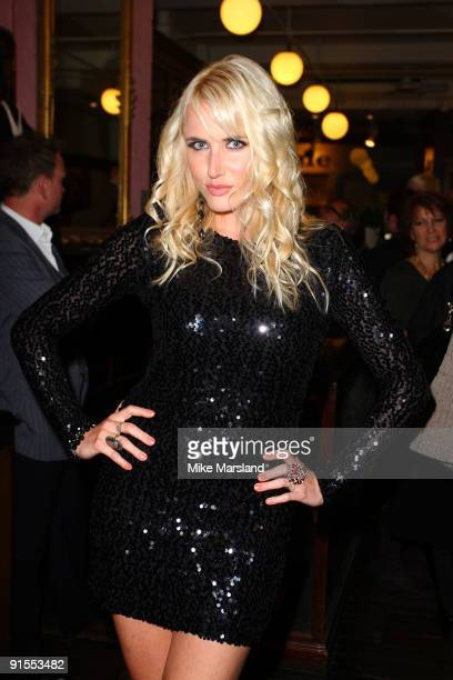 Nancy Sorrell attends the launch of Vic Reeves' 'Vast Book Of World Knowledge' on October 7 2009 in London England