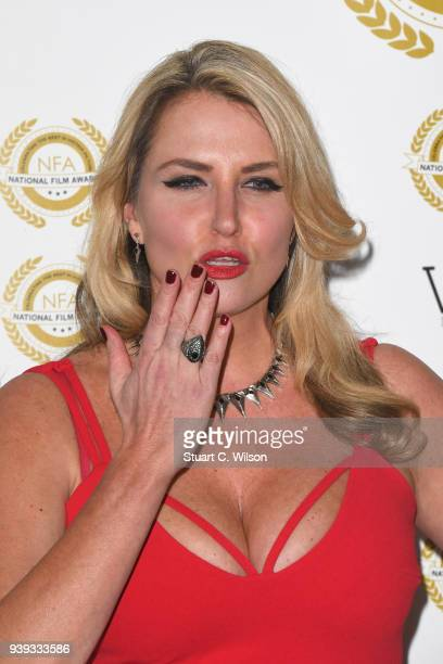 Nancy Sorrell attends the National Film Awards UK at Porchester Hall on March 28 2018 in London England