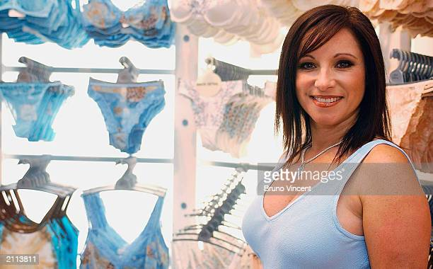 Nancy Sorrell Chief Executive and new official face of Ann Summers attends the opening of the second Ann Summers store on Oxford Street June 26 2003...