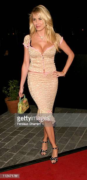 Nancy Sorrell during An Audience with Joe Pasquale Arrivals at The London Television Centre in London Great Britain