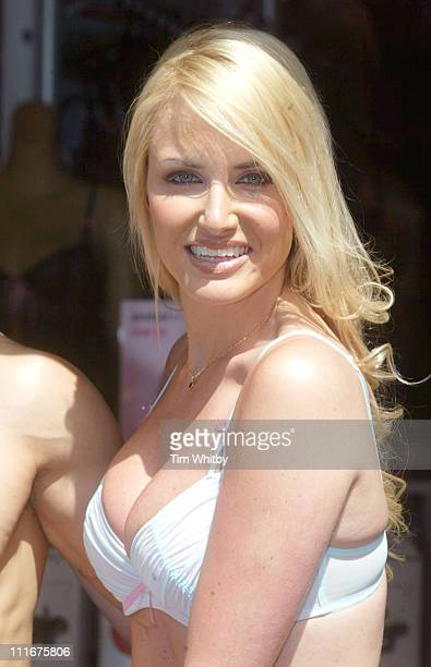 Nancy Sorrell during Nancy Sorrell Helps Launch the Check his Plums Campaign at Anne Summers Oxford Street in London Great Britain