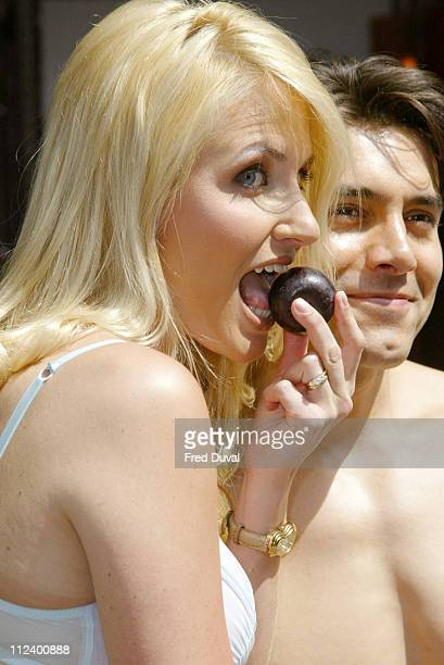Nancy Sorrell during Nancy Sorrell Helps to Launch the Check His Plums Campaign at Anne Summers Oxford Street in London United Kingdom