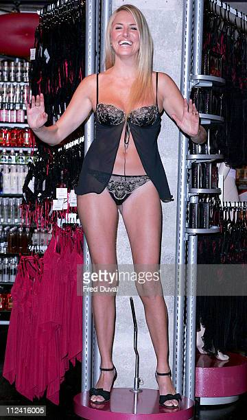Nancy Sorrell during Nancy's Naughty Knickers Lingerie Launch at Ann Summers in London Great Britain