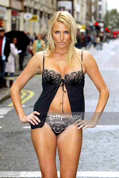 Nancy Sorrell during Nancy's Naughty Knickers Photocall at Ann Summers in London Great Britain