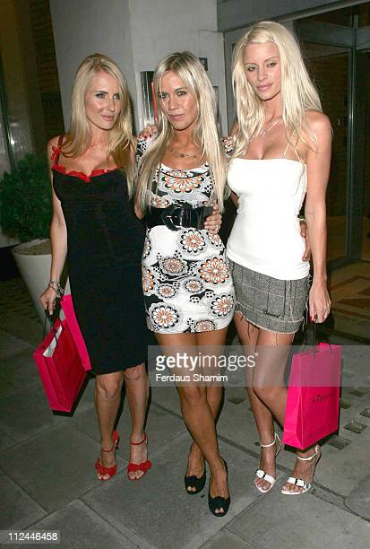Nancy Sorrell Kate Lawler and Emma B during Ann Summers 25th Birthday Party at The Zetter Hotel in London Great Britain