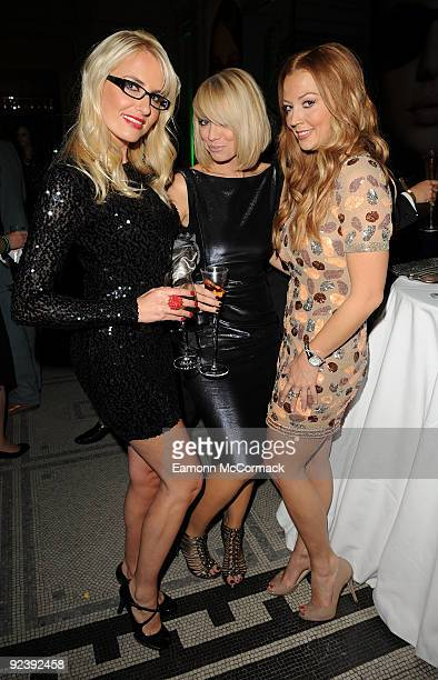 Nancy Sorrell Liz McClarnon and Liz Fuller attend the Specsavers Spectacle Wearer Of The Year 2009 Grand Final at Victoria Albert Museum on October...